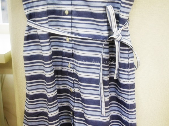 Striped shirtdress of short sleeves (4)