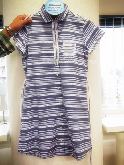 Striped shirtdress of short sleeves (6)