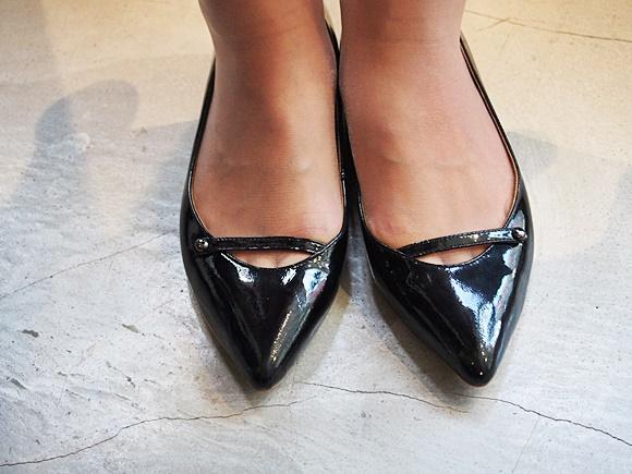 ダニジェマ パンプス 靴 通販 ポインテッドフラットシューズ