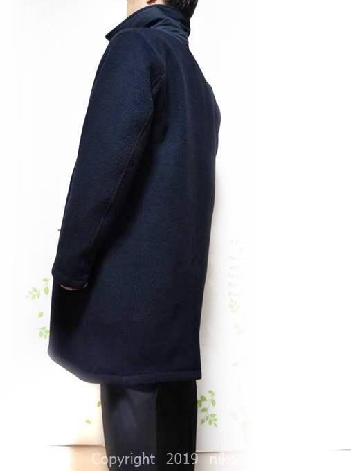 マジカルサーモ リバーシブルウールコート Lサイズ着丈:97cm