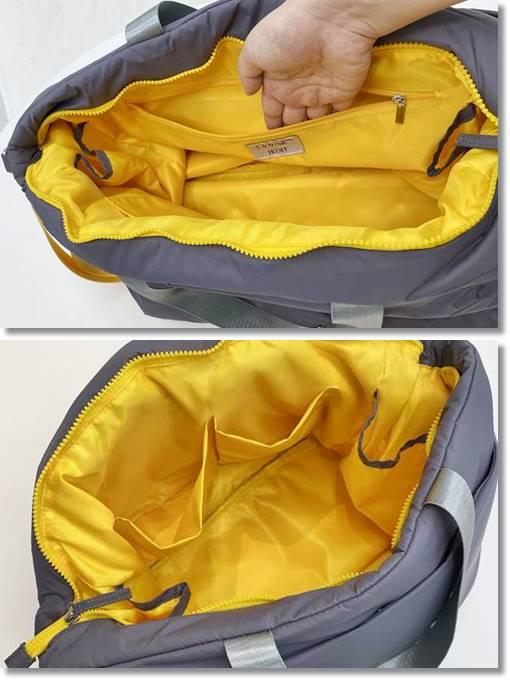 フェリシモ ことりっぷ ふんわり軽量大きめトートバッグ ポケット 仕切り