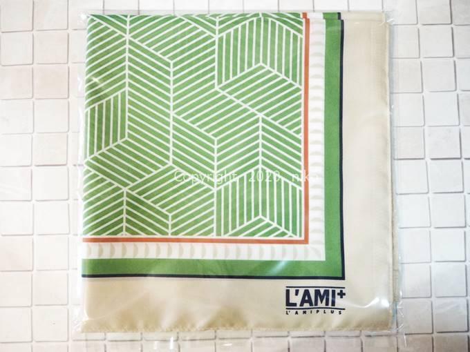 フェリシモ スカーフみたいなエコバッグ グリーン サイズ
